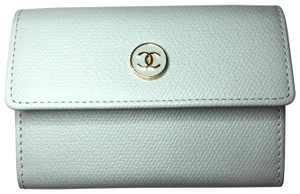 Chanel NEW Chanel Light Blue Bleu Porte Monnaie Card Coin Case w/Box
