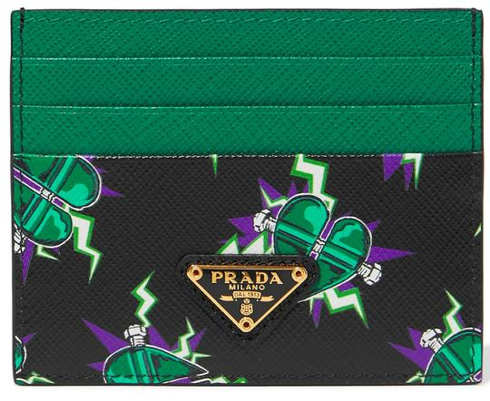 Preload https://img-static.tradesy.com/item/26021199/prada-black-green-new-leather-card-holder-bag-wallet-0-0-540-540.jpg