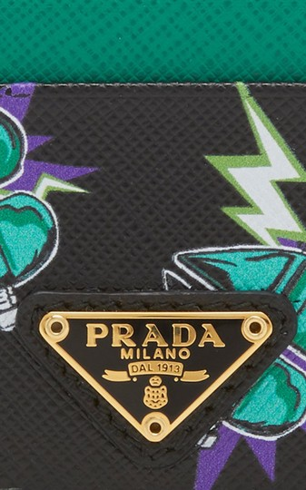 Prada NEW PRADA LEATHER CARD HOLDER WALLET BAG NWT Image 7