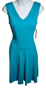New York & Company short dress Green Sleeveless Cotton Solid Color Flattering Skirt on Tradesy