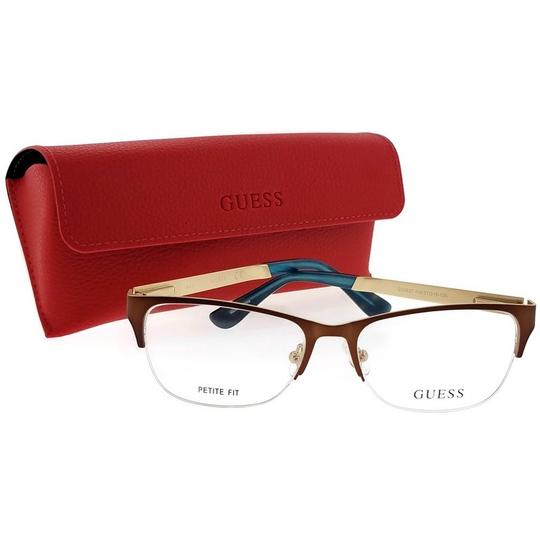Guess GU2627-049-51 Eyeglasses Size 51mm 16mm 140mm Brown Image 4
