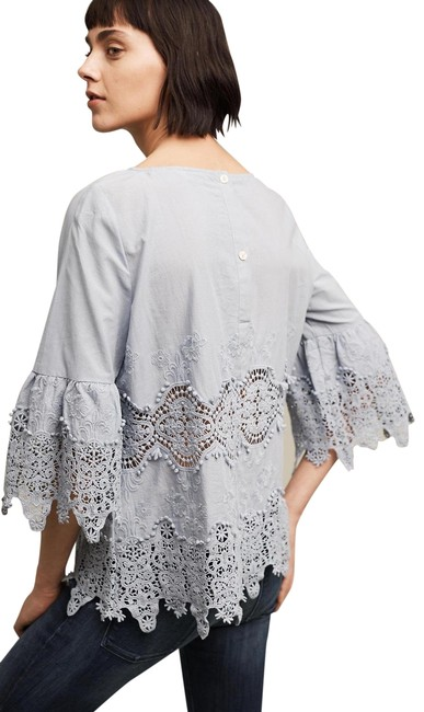 Preload https://img-static.tradesy.com/item/26021293/anthropologie-blue-tylho-elodie-lace-blouse-size-14-l-0-1-650-650.jpg
