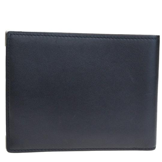 Cartier Authentic CARTIER 2C Logos Long Bifold Wallet Purse Leather Black Image 5