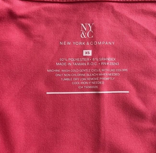 New York & Company Xs Top Coral Image 3