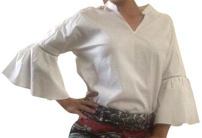 New York & Company White Small Blouse New Top white Image 0