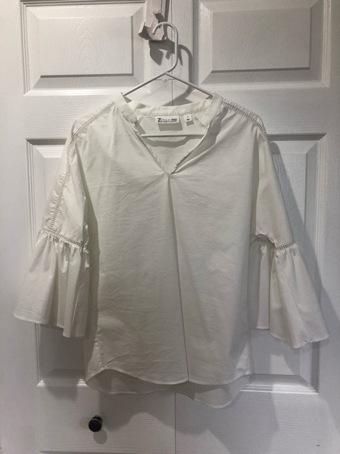 New York & Company White Small Blouse New Top white Image 2