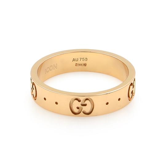 Gucci Icon Thin Band Ring Size 4.75 Image 3