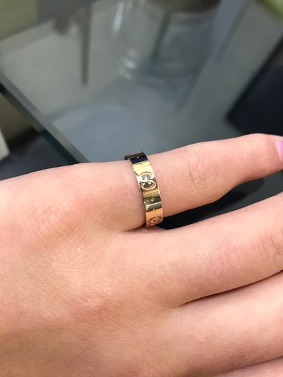 Gucci Icon Thin Band Ring Size 4.75 Image 4