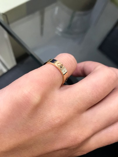 Gucci Icon Thin Band Ring Size 4.75 Image 5