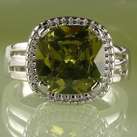 Preload https://img-static.tradesy.com/item/26021389/fashion-jewelry-for-everyone-green-emerald-gemstones-18k-white-gold-plated-size-9-ring-0-0-540-540.jpg