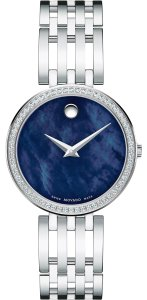 Movado Esperanza Stainless Steel Blue Mother of Pearl Diamond 0607231
