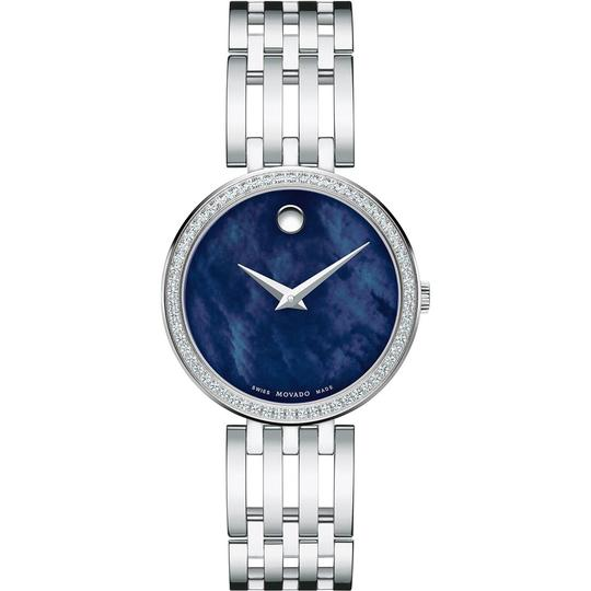 Movado Esperanza Stainless Steel Blue Mother of Pearl Diamond 0607231 Image 10
