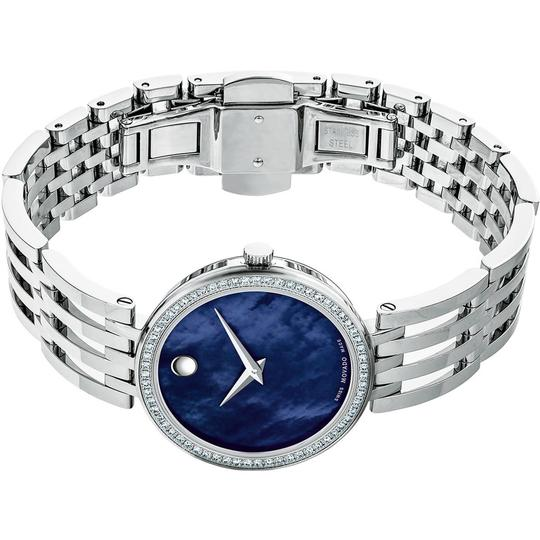 Movado Esperanza Stainless Steel Blue Mother of Pearl Diamond 0607231 Image 5