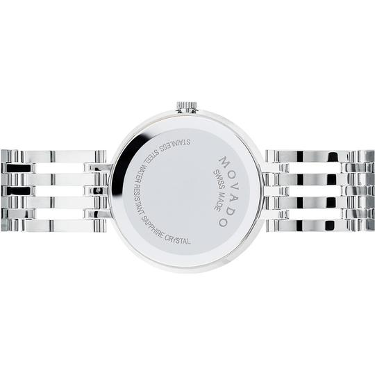 Movado Esperanza Stainless Steel Blue Mother of Pearl Diamond 0607231 Image 7
