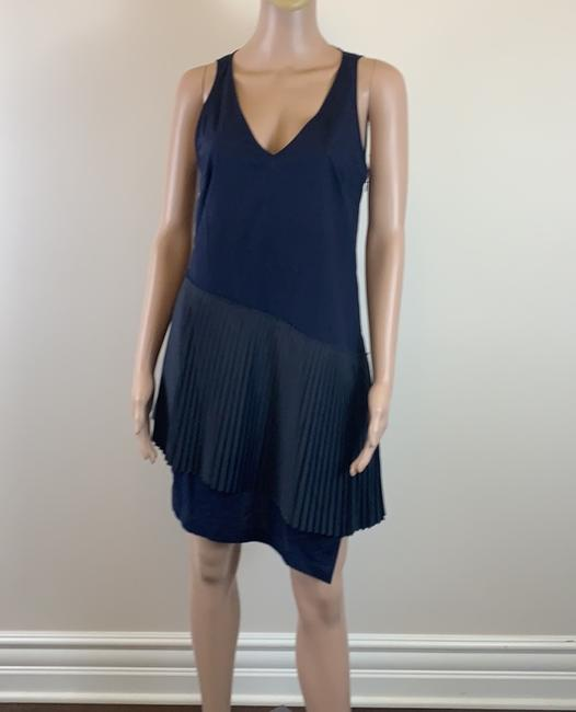 10 Crosby Derek Lam short dress navy Prada Pleats Cotton on Tradesy Image 1