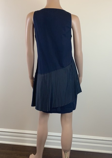 10 Crosby Derek Lam short dress navy Prada Pleats Cotton on Tradesy Image 2