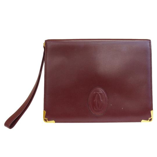 Preload https://img-static.tradesy.com/item/26021430/cartier-2c-logos-hand-bordeaux-leather-clutch-0-0-540-540.jpg