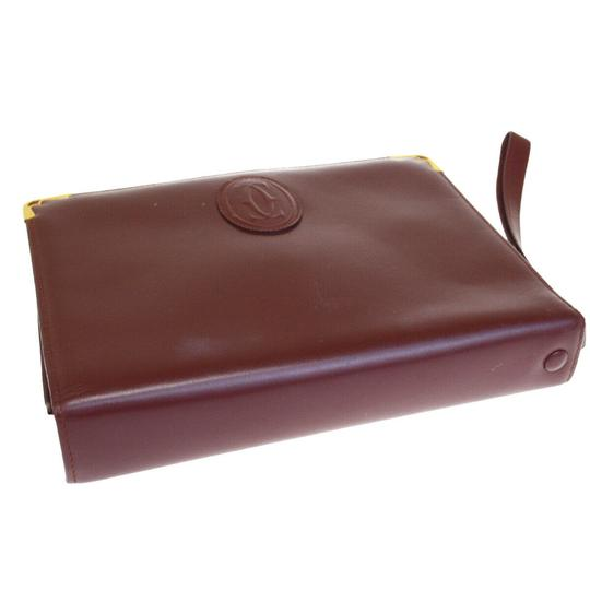 Cartier Bordeaux Clutch Image 2