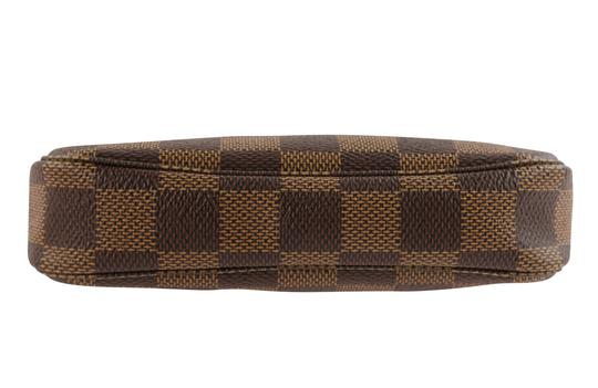 Louis Vuitton Damier Canvas Leather Gold Hardware Wristlet in Brown Image 3