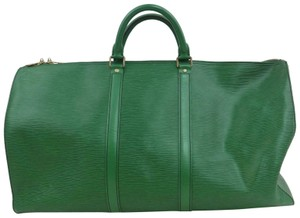 Louis Vuitton Green Epi leather Travel Bag