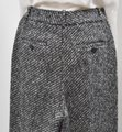 Theory Tweed Wide Leg Pleated Trouser Pants Black & White Image 3