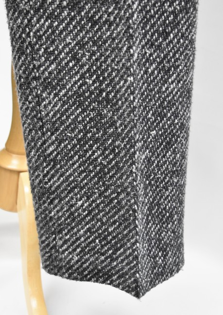 Theory Tweed Wide Leg Pleated Trouser Pants Black & White Image 5