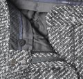 Theory Tweed Wide Leg Pleated Trouser Pants Black & White Image 6