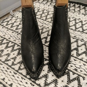 One Teaspoon Black with small silver studs Boots