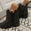 One Teaspoon Black with small silver studs Boots Image 1