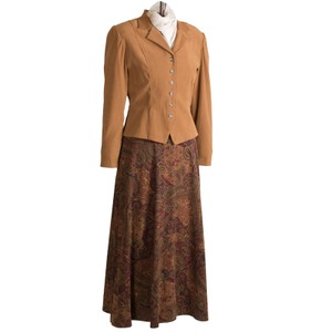 Dress Barn Faux suede Jacket and Paisley Skirt