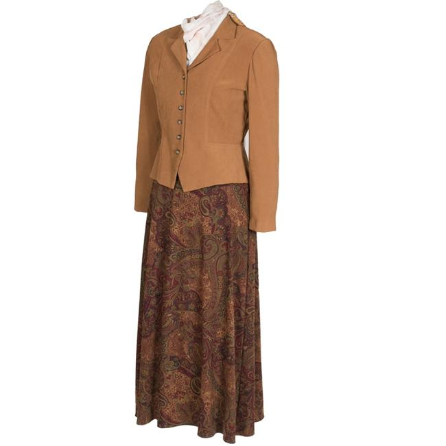 Dress Barn Faux suede Jacket and Paisley Skirt Image 1