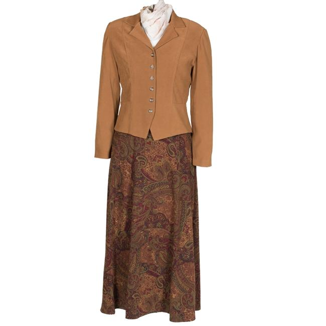 Dress Barn Faux suede Jacket and Paisley Skirt Image 2