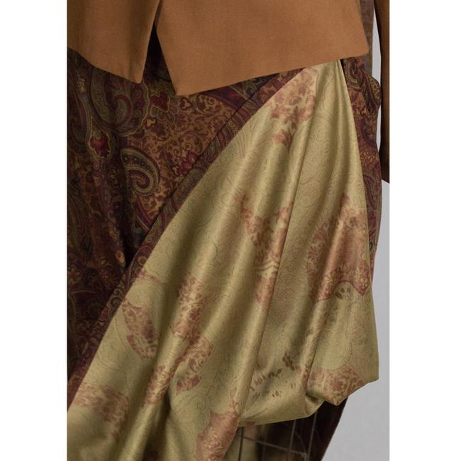 Dress Barn Faux suede Jacket and Paisley Skirt Image 3