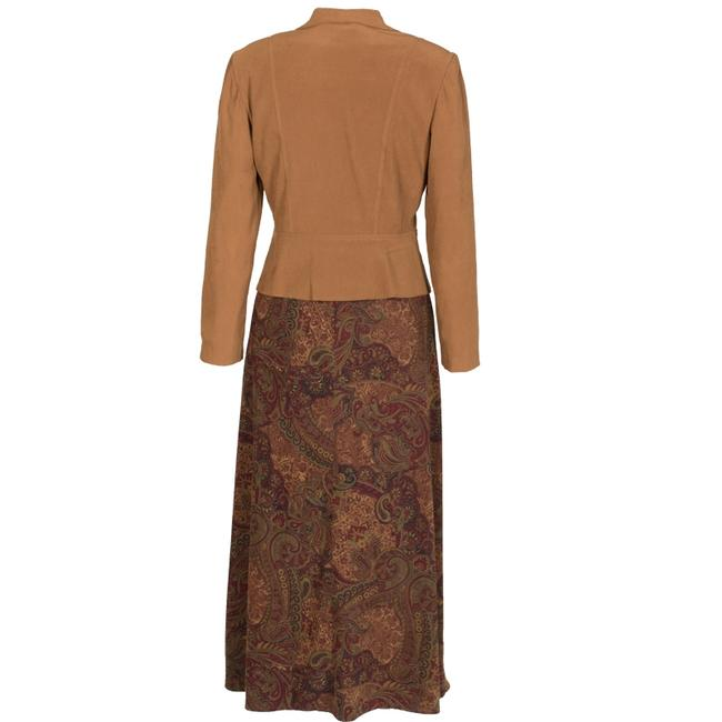 Dress Barn Faux suede Jacket and Paisley Skirt Image 4