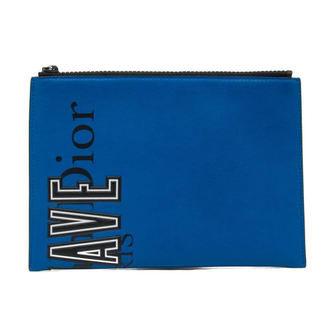 Item - Newave Pouch Blue Leather Clutch