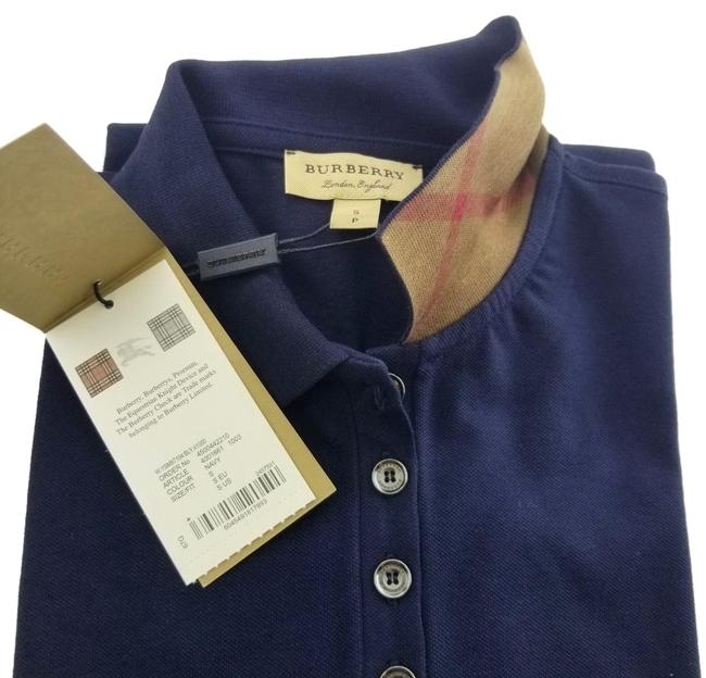 Preload https://img-static.tradesy.com/item/26022082/burberry-navy-blue-ladies-pique-check-collar-tee-shirt-size-4-s-0-1-650-650.jpg