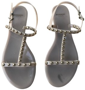 Givenchy Studs Jelly Strappy Metal Tan Sandals