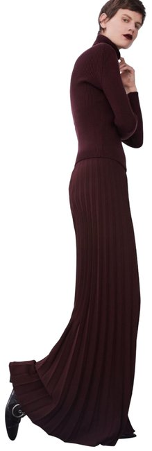 Item - Burgundy Pleated Details Pants Size 0 (XS, 25)