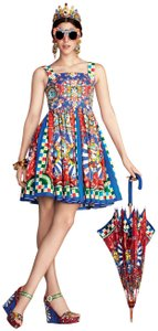 Dolce&Gabbana Pockets Multicolour Dress