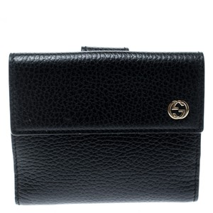 Gucci Black Leather Double G Wallet