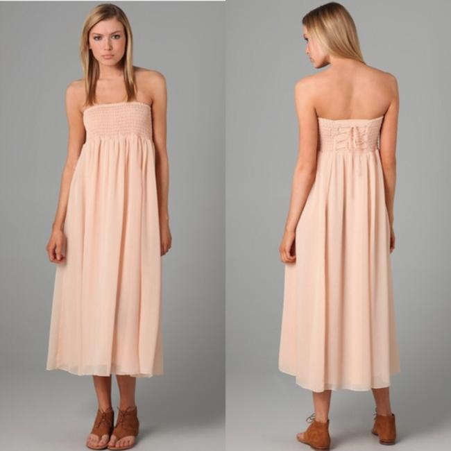 Peach Maxi Dress by Free People Image 1