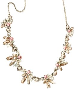 Givenchy Givenchy Gold-tone Accent Frontal Crystal Necklace