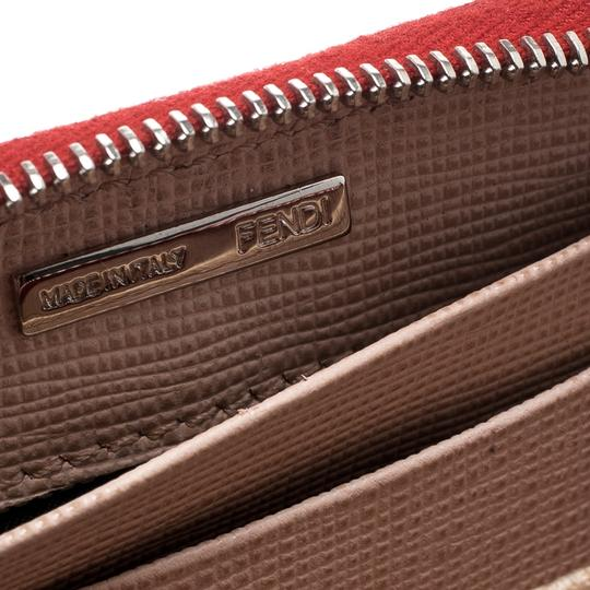 Fendi Red Patent Leather Zip Around Compact Wallet Image 4