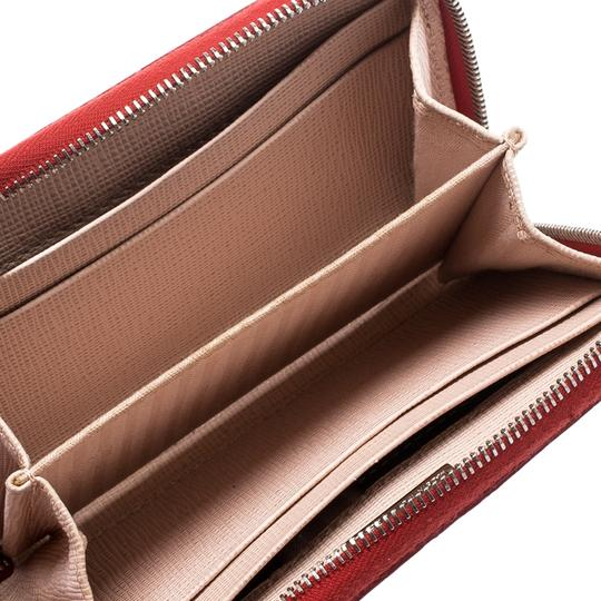 Fendi Red Patent Leather Zip Around Compact Wallet Image 6