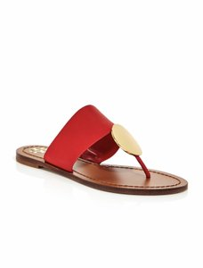 Tory Burch Brilliant Red/Gold Flats