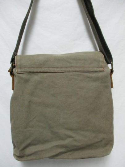 Augur Canvas Leather Crossbody brown Messenger Bag Image 1