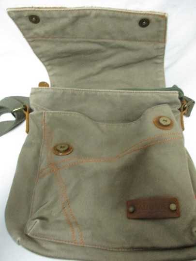 Augur Canvas Leather Crossbody brown Messenger Bag Image 5