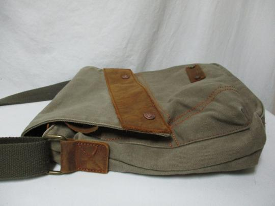 Augur Canvas Leather Crossbody brown Messenger Bag Image 6