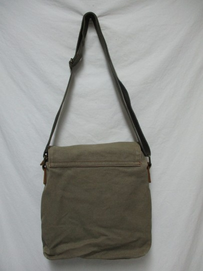 Augur Canvas Leather Crossbody brown Messenger Bag Image 8