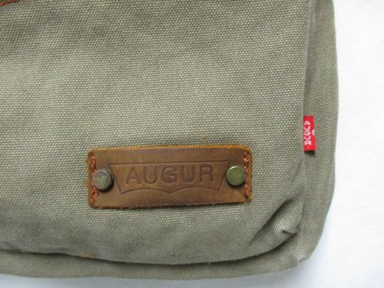 Augur Canvas Leather Crossbody brown Messenger Bag Image 9